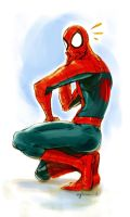 spidey color sketch by Gingashi
