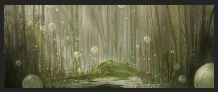 Bamboo Bubbles Sketch by HalcyonBrush