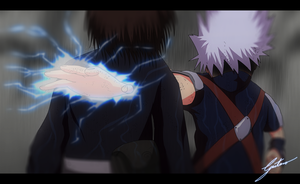 Kakashi and Rin by Gugarts
