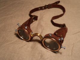 Steampunk goggles light by ChanceZero