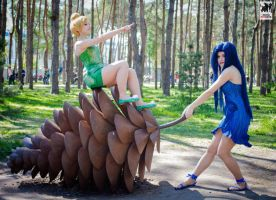 Tinker Bell and Silvermist by Perevinkl