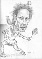 Martina Navratilova by marcgosselin