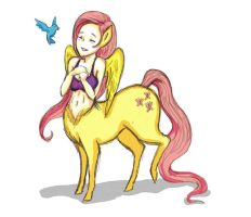 My Little Centaur Fluttershy by StacheRabbit
