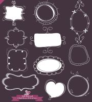 Mega doodle pack2 with extra design elements WHITE by PicturesOfPelicans