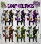 Candy HellFoxes by Krissyfawx