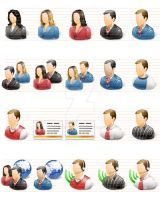 Vista Professional User Icons by artistsvalley
