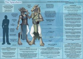 The Spaceborn - Species Sheet by Ulario