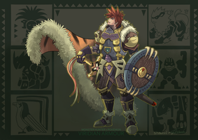 MH X POKEMON - Viridian Armour by ShawnnL