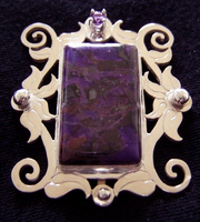 Sugilite Brooch collaboration by jessa1155