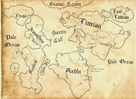 To Split a Rock: World Map of Orbis by Amateur-Aery