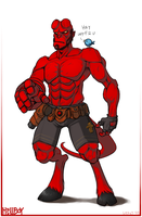 COMMISSION: Hellboy by lexxercise