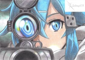 Sinon (Sword Art Online II) by Solvey678