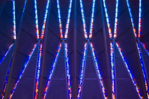 Air Force Academy Chapel Interior Ceiling by COphotog