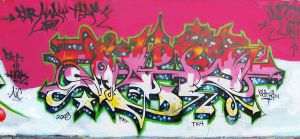 indonesia merdeka on graffiti by eatho
