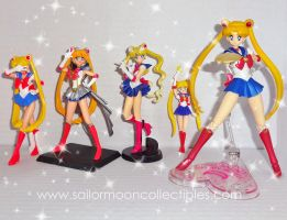Random Assortment of Sailor Moon Figures by onsenmochi