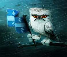 Day 582. Happy St-Jean Baptiste Day by Cryptid-Creations