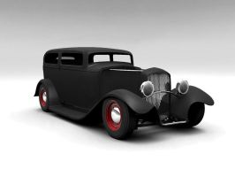 1932 Ford Tudor Sedan - Black by todd587