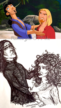 Tumblr Challenge: Redraw Your OTP Like... by CR-MediaGal