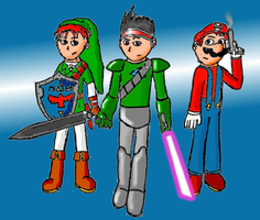 Link456, Sprite, and Irby by Spritedude