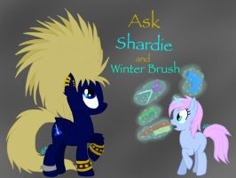 Ask Shardie and Winter Brush -OPEN- by BlackDragon-Studios