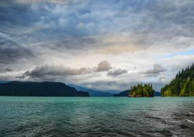 Cloud covered lake by dashakern