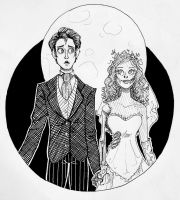 Inktober Day 16 : Corpse Bride by TheDreamer843