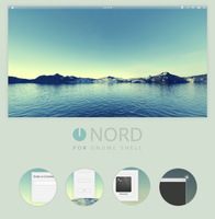 GNOME Shell: Nord by 0rAX0