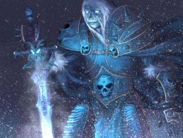 ARTHAS frostmourne by luciffer34