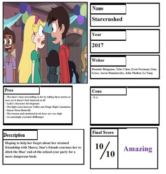 Starcrushed Pros and Cons by happylemur37