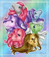 The original six ponies by LazyJenny
