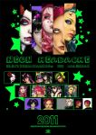 neon headache calendar 2012 by ElectronicRainbow