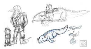 Random 6 Month Old Sketches by Zalcoti