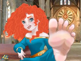 Merida's Scottish Feet by LazzyLad