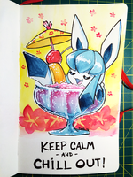 160408 Chill Out Glaceon by fablefire