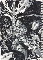 Inktober 2014 #1 Birth of a Sword by Mecha-Zone