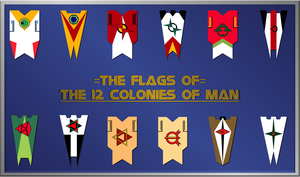 Flags of the 12 Colonies of Man by ZFShadowSOLDIER