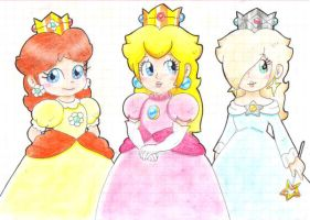 .:Pretty Princesses:. by CloTheMarioLover