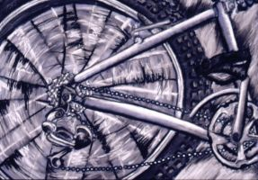 Bike wheel by VanCityArtist