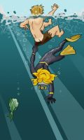 Attack of the Aquatic Fangirl by Sio64