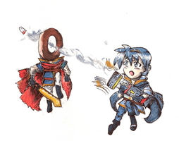 Marth vs DonutMan by MushroomStomper