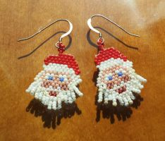 Santa earrings 2.0 by AxmxZ