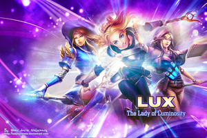 LUX League of Legends - wallpaper by ladylucienne