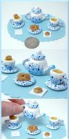 Tea set and biscuits by BlackCurtains