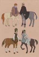 Fashionable centaurs by Algesiras