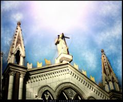 Jesus from the sky by DiMoZ