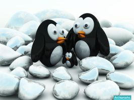 Archigraphs Trapped Penguins by Cyberella74