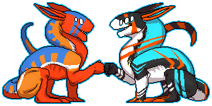 CM: Sam and Reave pixel by Ubunku