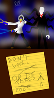 Kate(Proxy) and Slenderman The eight pages by MsGraziosa