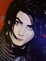 Gerard Way Painting 1 by somedayitllhappen
