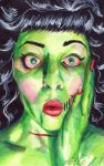 Zombi Pin Up by RoseStanley